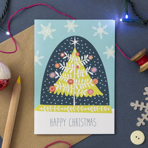 'Snow Globe' Christmas Card - cards