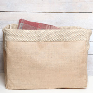 Natural Jute Storage Or Recycling Bag - storage & organisers