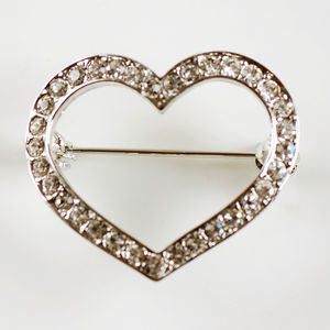 Vintage Style Heart Brooch - pins & brooches