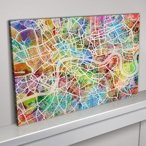 London Map Art Print - canvas prints & art