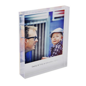 Mini Personalised Photo Acrylic Block - personalised gifts for him