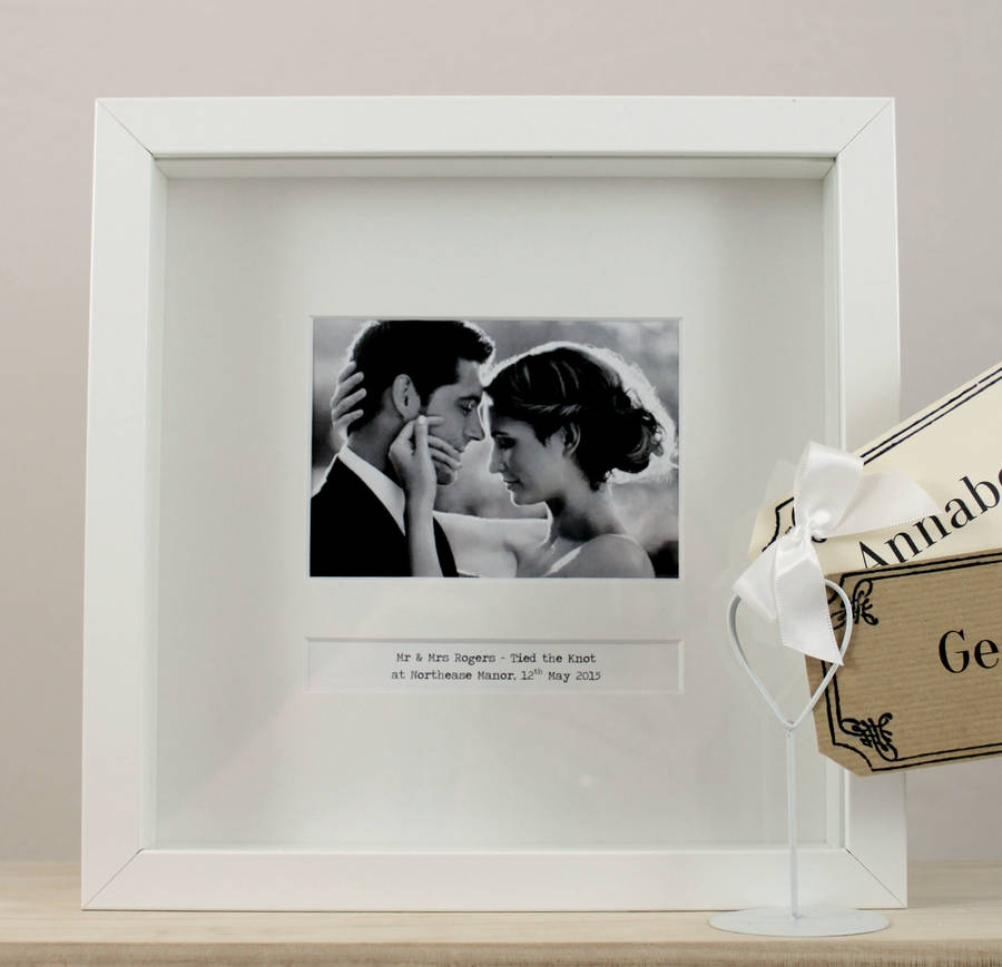 personalised wedding day frame by posh totty designs creates ...