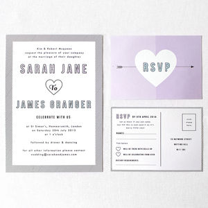 Confetti Wedding Stationery - invitations