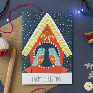 'Love Birds' Christmas Card - cards & wrap