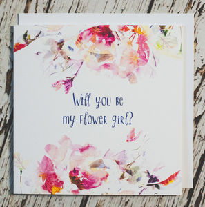 'Will You Be My Flower Girl?' Card - styling your day