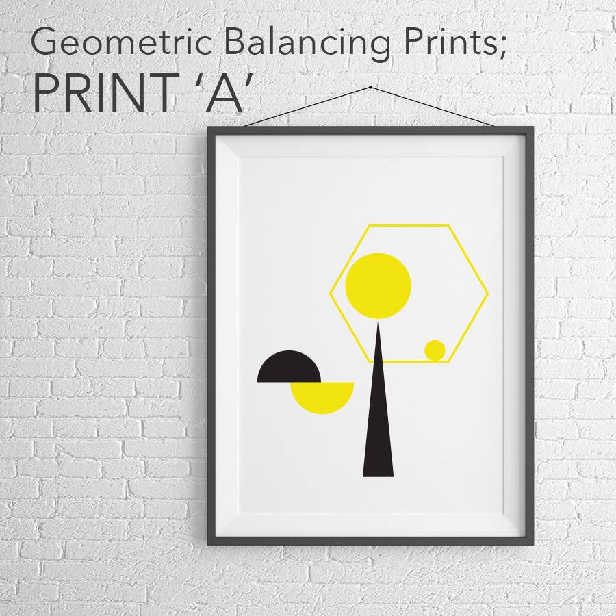 Lovely Balancing Geometric Art Prints Nice Design