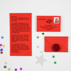 Elf On The Shelf Personalised Letter - christmas cards
