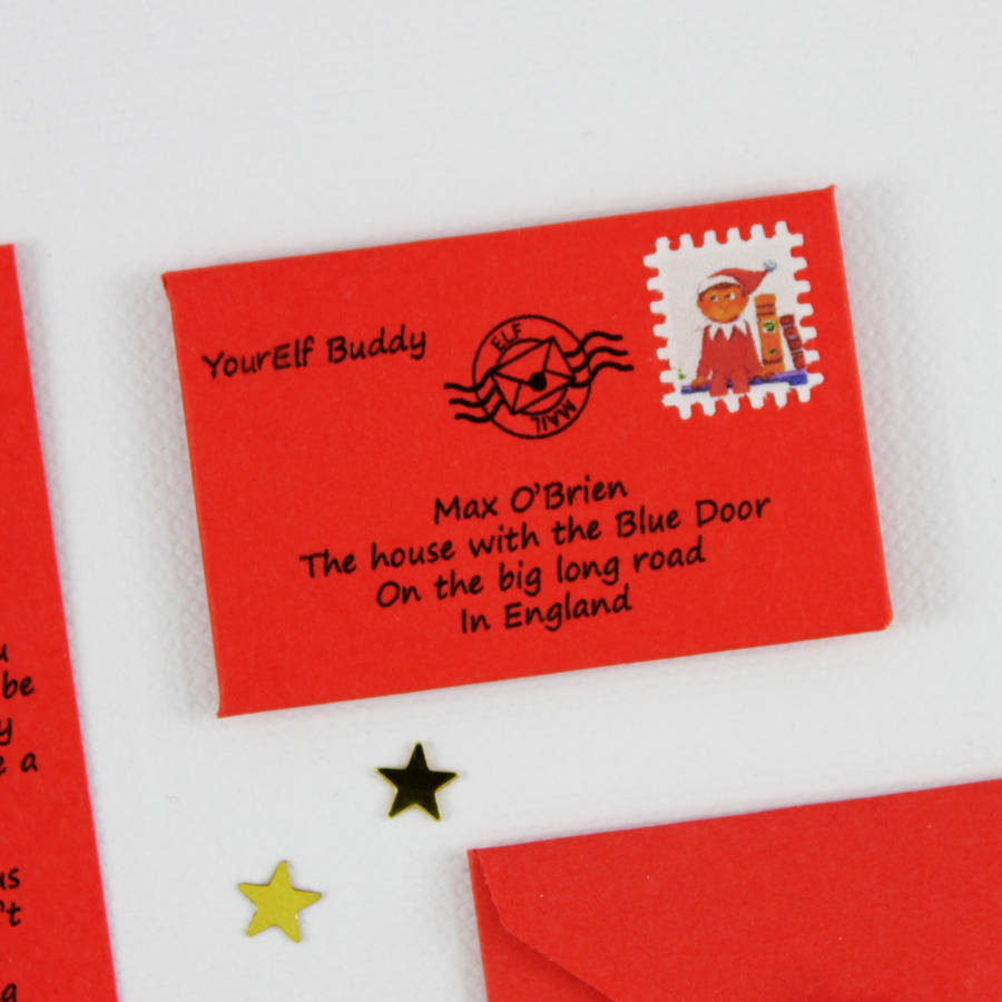 homepage > LITTLE LETTER > ELF ON THE SHELF PERSONALISED LETTER