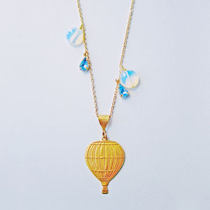 Moving On Up Hot Air Balloon Necklace