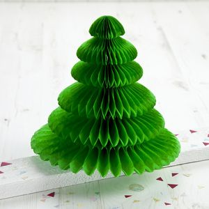 Christmas Honeycomb Table Top Tree Medium - christmas home accessories