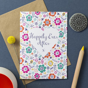 'Happily Ever After' Greetings Card - wedding gifts & cards sale