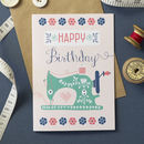 'Sew Happy' Birthday Card