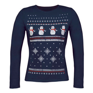 Womens Christmas Snowman Long Sleeve Top - last-minute christmas decorations