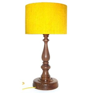 Mustard Silk Lamp - lighting