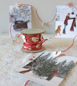 Red Craft String With White Hearts - cards & wrap