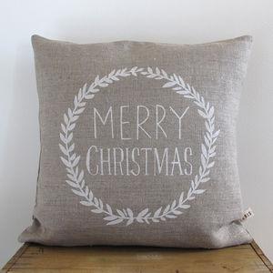 Merry Christmas Cushion - cushions