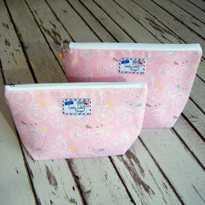 Bicycle Cosmetic Makeup Toiletry Wash Bag - make-up & wash bags