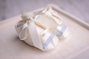 Boys Christening Booties 'Echo'