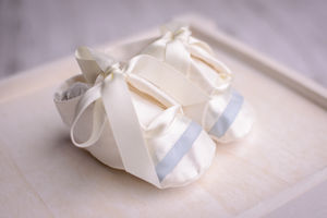 Boys Christening Booties 'Echo' - shop by price