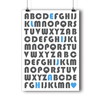 Personalised Alphabet Name Kids Print