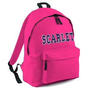 Personalised Applique Name Rucksack Pink