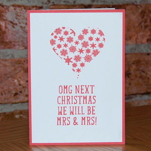 'Omg Next Christmas We Will Be Mrs And Mrs' Card - cards