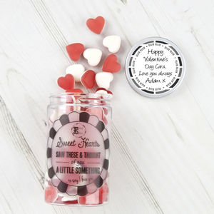 Retro Sweets Jar Love Heart Gums - chocolates & confectionery