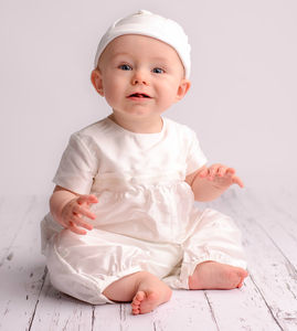 Boys 'George' Christening Romper Suit - christening wear