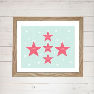 Personalised Family Stars Print