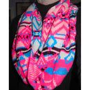 Aztec Inspired Bright Patterned Circular Scarf / Snood
