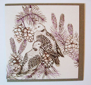 Two Doves Card - seasonal cards