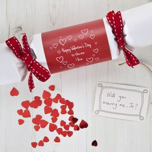 Pop The Question Valentine's Cracker