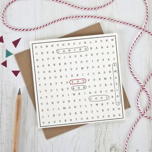 Valentine's Word Search Card