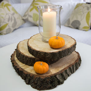 Large Oak Wood Log Slice Table Center Piece - table decorations