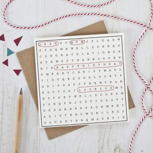 Any Occassion Word Search Card - all purpose cards, postcards & notelets