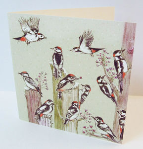 Lesser Spotted Woodpeckers Card