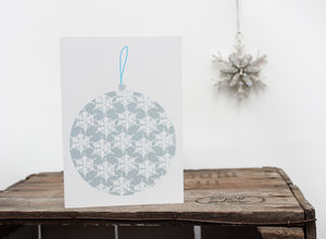 Christmas Bauble Decoration Greetings Card