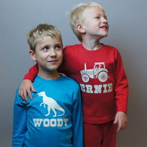 Personalised Glow In The Dark Pyjamas - children's nightwear