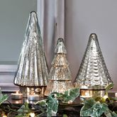 Antiqued Mirrored Glass Christmas Tree - christmas