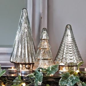 Antiqued Mirrored Glass Christmas Tree