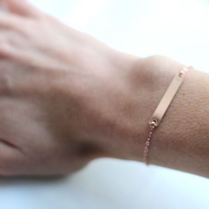 Rose Gold Bar Bracelet - bracelets & bangles