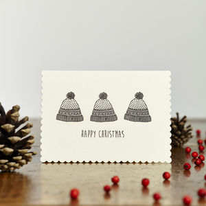 Happy Christmas Hats Card - cards & wrap