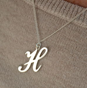 Alphabet Sterling Silver Necklace - necklaces
