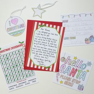 Personalised Letter From Santa And Activity Pack