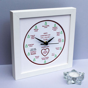 Personalised 'It's… O'clock' Christmas Clock - clocks