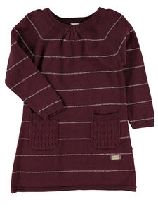 Fina Burgundy Knitted Dress