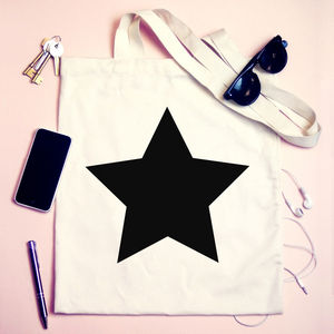 Personalised Star Tote Bag - shoulder bags