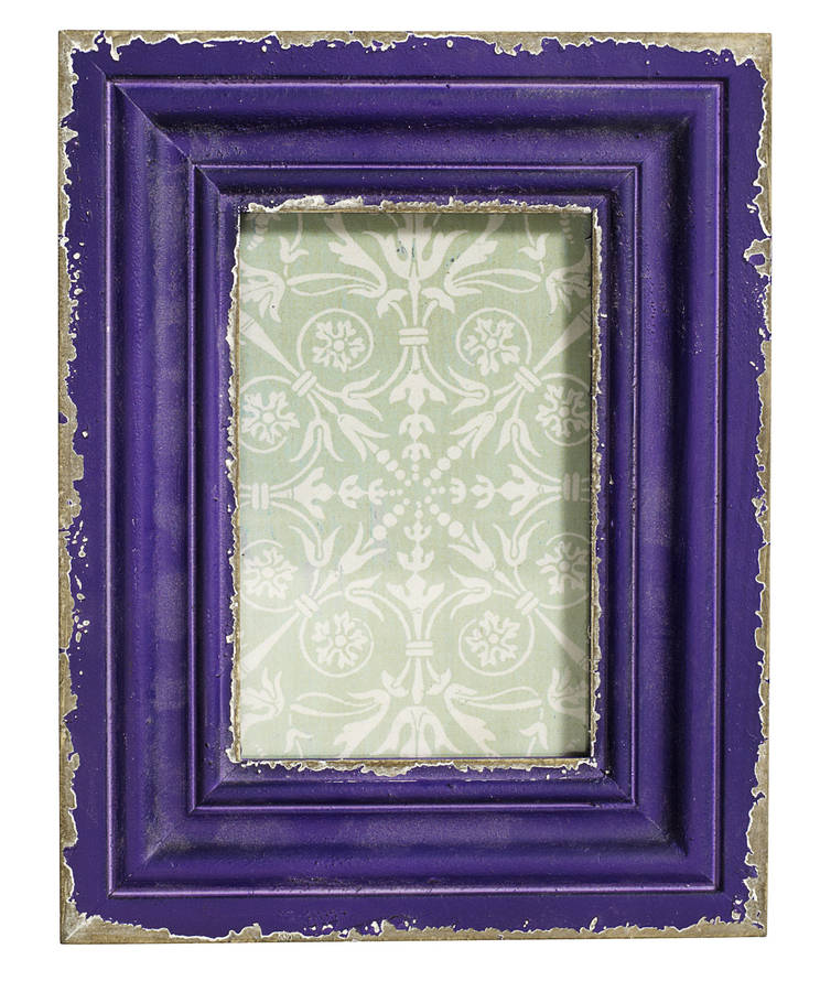 vintage style purple picture frame by i love retro. Black Bedroom Furniture Sets. Home Design Ideas