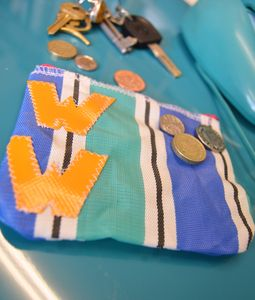Personalised Deckchair Stripe Coin Purse Pouch - personalised