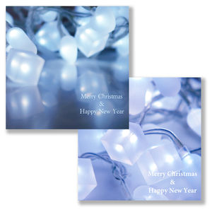 Ice Cube Lights Christmas Card Pack - cards & wrap